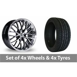 4 X 20 Bk Racing 861 Wp Black Polished Alloy Wheel Rims And Tyres - 275/40/20