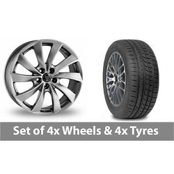 4 X 19 Wolfrace Lugano Shadow Chrome Alloy Wheel Rims And Tyres - 265/30/19