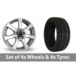 4 X 18 Wolfrace Twister Shadow Chrome Alloy Wheel Rims And Tyres - 225/50/18