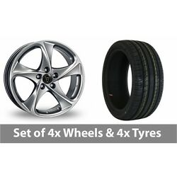4 X 18 Wolfrace Catania Shadow Chrome Alloy Wheel Rims And Tyres - 245/45/18