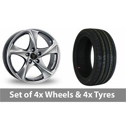 4 X 18 Wolfrace Catania Shadow Chrome Alloy Wheel Rims And Tyres - 255/55/18