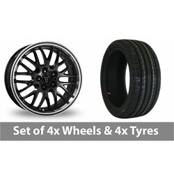 4 X 18 Wolfrace Norano Black Alloy Wheel Rims And Tyres - 225/40/18