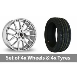 4 X 20 Wolfrace Munich Silver Polished Alloy Wheel Rims And Tyres - 245/40/20
