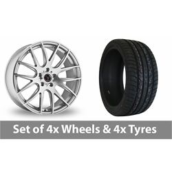 4 X 20 Wolfrace Munich Silver Polished Alloy Wheel Rims And Tyres - 255/45/20