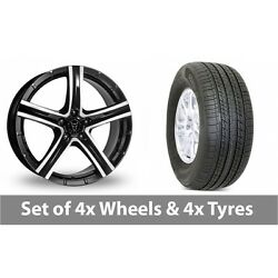 4 X 19 Wolfrace Quinto Suv Alloy Wheel Rims And Tyres - 255/50/19