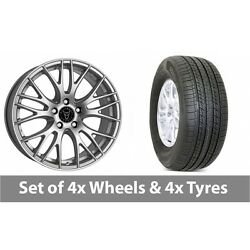 4 X 19 Wolfrace Perfektion Silver Alloy Wheel Rims And Tyres - 255/50/19