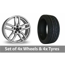 4 X 20 Wolfrace Temper Silver Alloy Wheel Rims And Tyres - 295/40/20