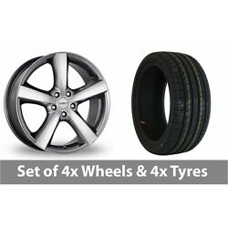 4 X 18 Dezent High Gloss Alloy Wheel Rims And Tyres - 215/55/18