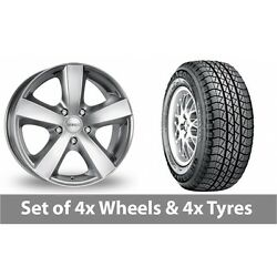 4 X 17 Dezent High Gloss Alloy Wheel Rims And Tyres - 235/70/17