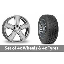 4 X 20 Dezent Th Silver Alloy Wheel Rims And Tyres - 245/45/20