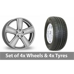 4 X 18 Dezent Th Silver Alloy Wheel Rims And Tyres - 265/60/18