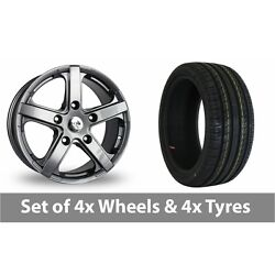 4 X 18 Fox Racing Commercial Grey Alloy Wheel Rims And Tyres - 235/50/18