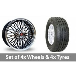 4 X 17 Axe Ex 3hree Black Polished Alloy Wheel Rims And Tyres - 235/65/17