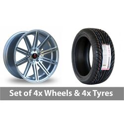 4 X 18 Axe Ex15 Silver Polished Alloy Wheel Rims And Tyres - 255/35/18