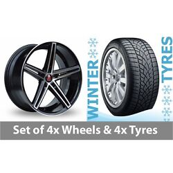 4 X 20 Axe Ex14 Black Polished Alloy Wheel Rims And Tyres - 265/35/20
