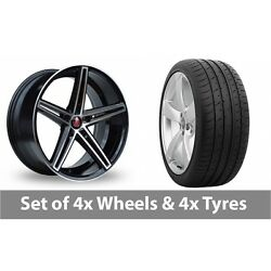 4 X 20 Axe Ex14 Black Polished Alloy Wheel Rims And Tyres - 265/30/20