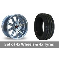 4 X 20 Axe Ex15 Silver Polished Alloy Wheel Rims And Tyres - 255/35/20