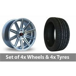 4 X 20 Axe Ex15 Silver Polished Alloy Wheel Rims And Tyres - 255/45/20