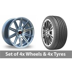 4 X 20 Axe Ex15 Silver Polished Alloy Wheel Rims And Tyres - 275/35/20