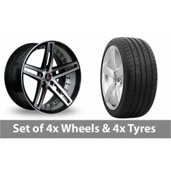 4 X 20 Axe Ex20 Black Polished Alloy Wheel Rims And Tyres - 265/30/20