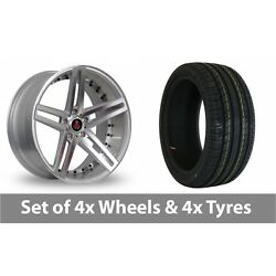 4 X 20 Axe Ex20 Silver Polished Alloy Wheel Rims And Tyres - 225/30/20