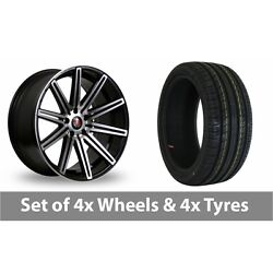 4 X 19 Axe Ex15 Black Polished Alloy Wheel Rims And Tyres - 235/35/19