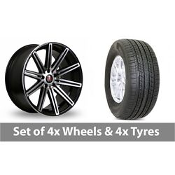 4 X 19 Axe Ex15 Black Polished Alloy Wheel Rims And Tyres - 255/50/19