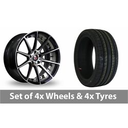 4 X 19 Axe Ex16 Polished Alloy Wheel Rims And Tyres - 235/40/19