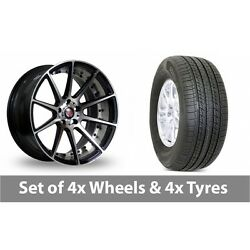 4 X 19 Axe Ex16 Polished Alloy Wheel Rims And Tyres - 255/50/19