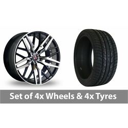 4 X 20 Axe Ex30 Black Polished Alloy Wheel Rims And Tyres - 255/45/20