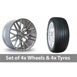 4 X 20 Axe Ex30 Silver Polished Alloy Wheel Rims And Tyres - 265/50/20