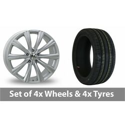 4 X 18 Zito Crs Silver Alloy Wheel Rims And Tyres - 225/45/18