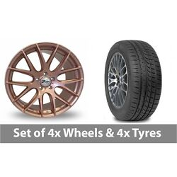 4 X 20 Zito Zl935 Rose Gold Alloy Wheel Rims And Tyres - 245/45/20