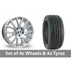 4 X 19 Tekno Rx7 Silver Alloy Wheel Rims And Tyres - 235/50/19