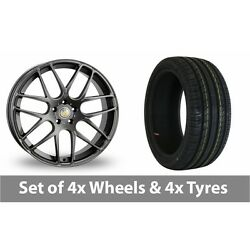 4 X 18 Cades Bern Accent Grey Alloy Wheel Rims And Tyres - 225/45/18