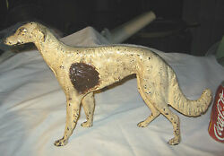 Antique Hubley Usa 16 Borzoi Whipet Wolfhound Cast Iron Dog Doorstop Statue Toy