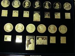 American Presidents Silver Bars Coins United States Postal Service Collection