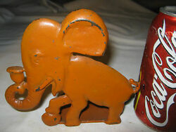 2 Spencer Guilford Connecticut Usa Childs Toy Size Cast Iron Elephant Doorstop
