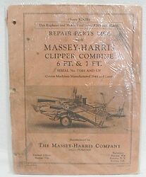 Massey-harris Repair Parts List For Clipper Combine 6 And 7 Foot