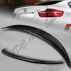 For 2008-2014 Bmw E71 X6 Performance Real Carbon Fiber Rear Trunk Spoiler Wing