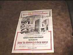 How To Murder A Rich Uncle 1958 Orig Movie Poster Charles Addams Art