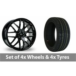 4 X 20 Riva Dtm Black Alloy Wheel Rims And Tyres - 255/40/20