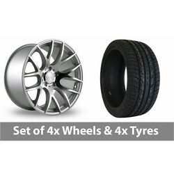 4 X 20 Threesdm 0 01 Silver Polished Alloy Wheel Rims And Tyres - 255/45/20