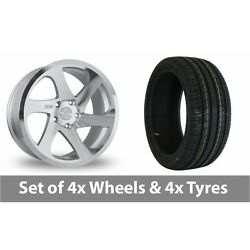 4 X 18 Threesdm 0 06 Silver Polished Alloy Wheel Rims And Tyres - 225/50/18