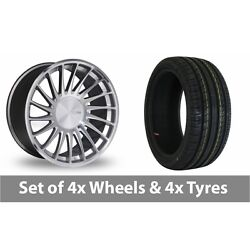 4 X 18 Threesdm 0 04 Silver Polished Alloy Wheel Rims And Tyres - 235/40/18