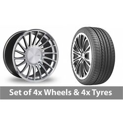 4 X 20 Threesdm 0 04 Silver Polished Alloy Wheel Rims And Tyres - 235/35/20