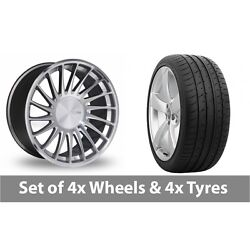 4 X 20 Threesdm 0 04 Silver Polished Alloy Wheel Rims And Tyres - 265/30/20
