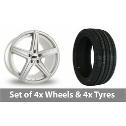 4 X 19 Drc Dma Silver Alloy Wheel Rims And Tyres - 255/40/19