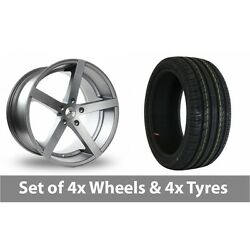 4 X 18 Ac Wheels Star Five Grey Alloy Wheel Rims And Tyres - 215/55/18