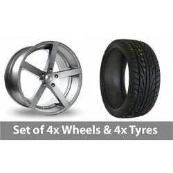 4 X 22 Ac Wheels Star Five Grey Alloy Wheel Rims And Tyres - 245/30/22